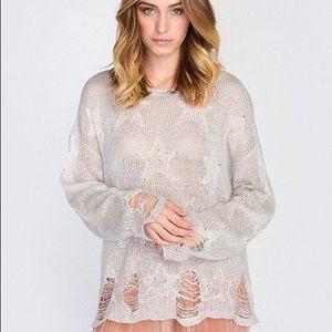 Wildfox Lennon Sweater in Confetti Soft Pink